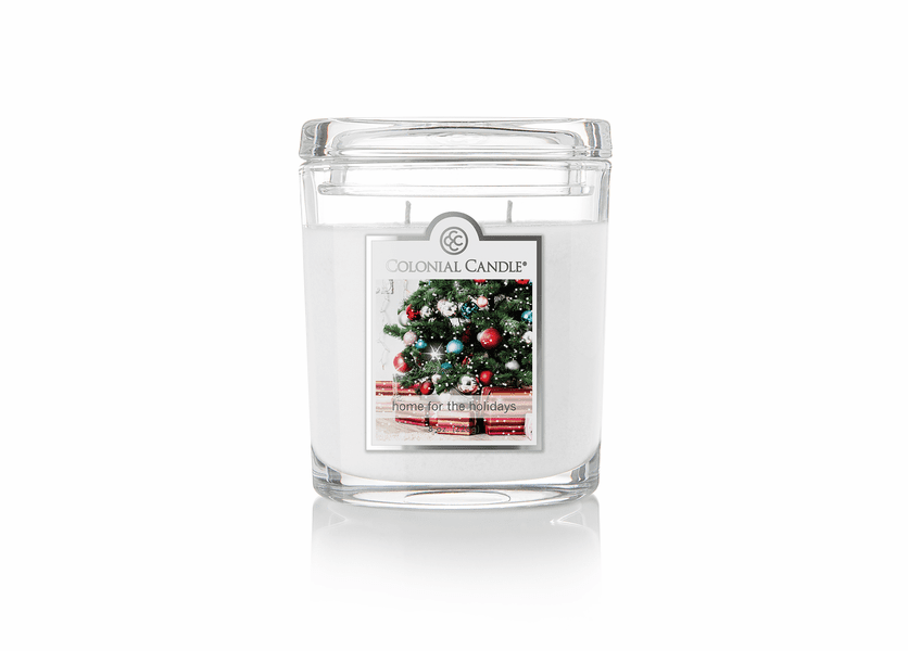 _DISCONTINUED - Home for the Holidays 8 oz. Oval Jar Colonial Candle