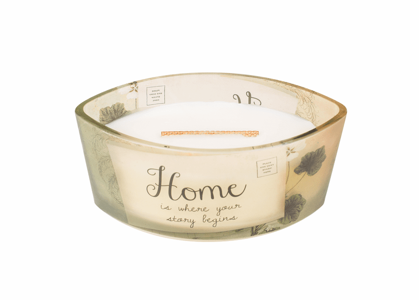 _DISCONTINUED - Home Vanilla Bean Inspirational Ellipse WoodWick Candle HearthWick Flame