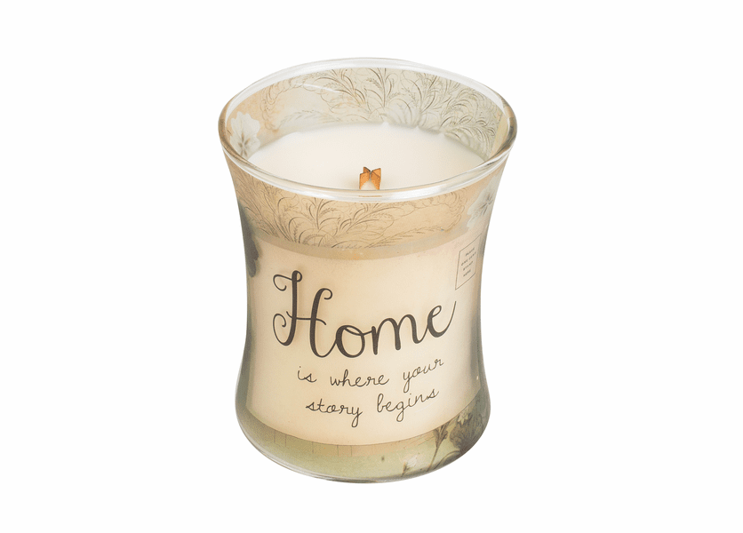 _DISCONTINUED - Home Vanilla Bean Inspirational Hourglass WoodWick Candle