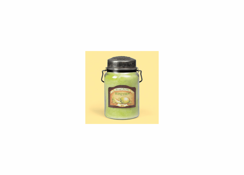 _DISCONTINUED - Honeydew 26 oz. McCall's Classic Jar Candle