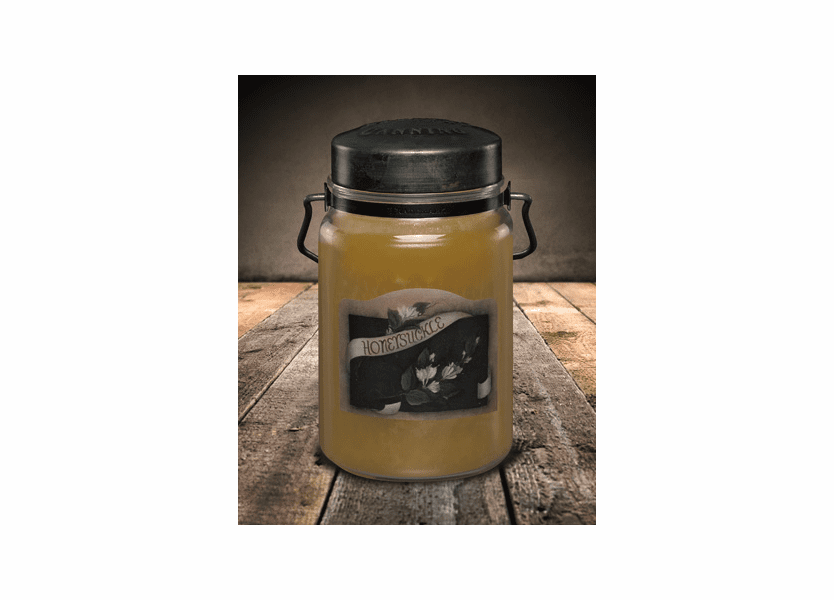 _DISCONTINUED - Honeysuckle 26 oz. McCall's Classic Jar Candle