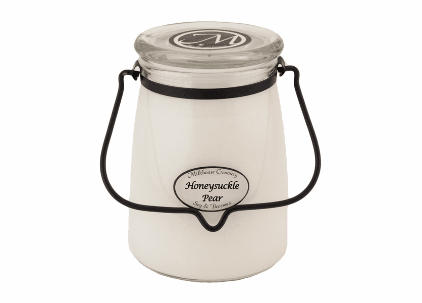 _DISCONTINUED - Honeysuckle Pear 22 oz. Butter Jar Candle by Milkhouse Candle Creamery