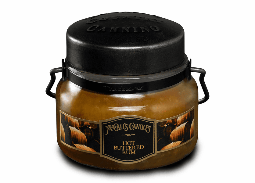 _DISCONTINUED - Hot Buttered Rum 8 oz. McCall's Double Wick Classic Jar Candle