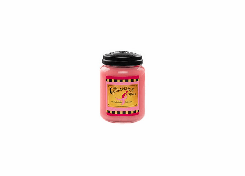 _DISCONTINUED - Hot Maple Toddy For The Cure 26 oz. Large Jar Candleberry Candle