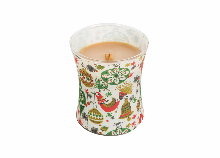 _DISCONTINUED - Hot Toddy Decal Glass WoodWick Candle