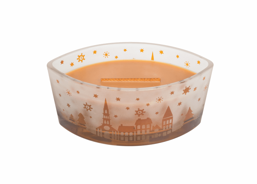 _DISCONTINUED - Hot Toddy Scenic Ellipse WoodWick Candle HearthWick Flame