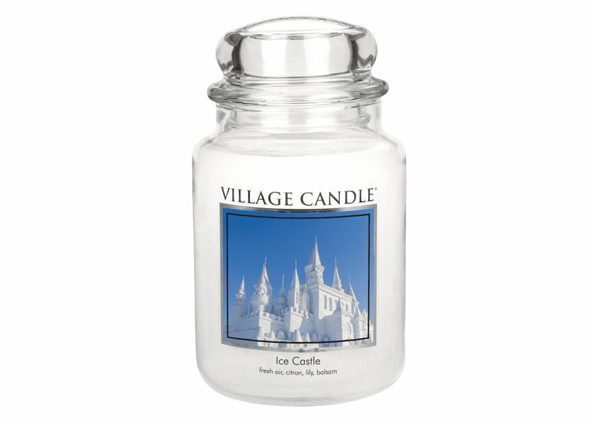 _DISCONTINUED - Ice Castle 26 oz. Premium Round by Village Candles