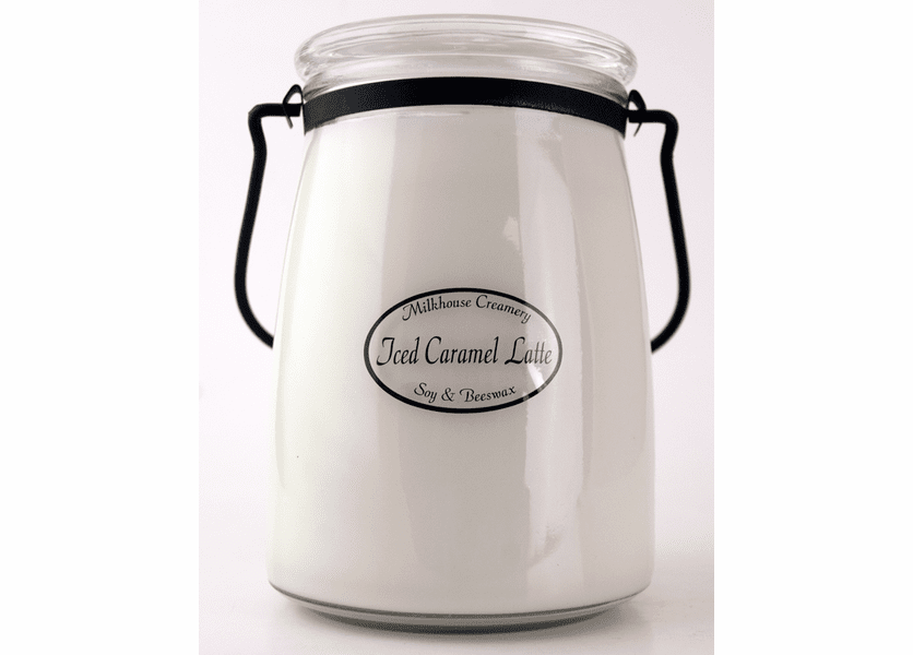 _DISCONTINUED - Iced Caramel Latte 22 oz. Butter Jar Candle by Milkhouse Candle Creamery