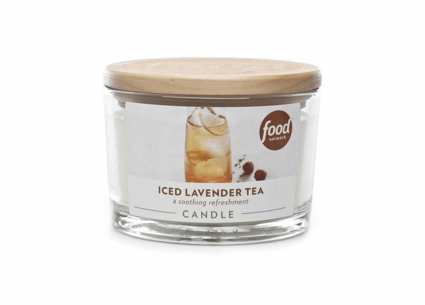 _DISCONTINUED - Iced Lavender Tea 16 oz. Food Network Glass Jar Candle by Boulevard