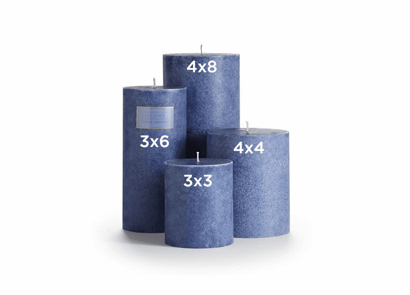 _DISCONTINUED - Indica Lavender 3 x 3 Round Pillar Illume Candle