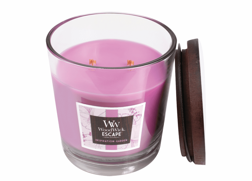 _DISCONTINUED - Inspiration Garden WoodWick Escape Large 2-Wick Jar Candle