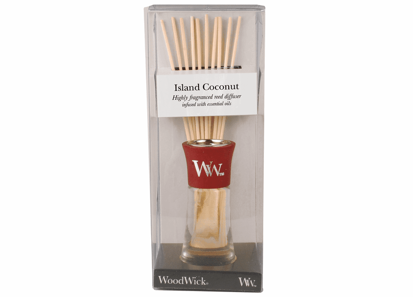 _DISCONTINUED - Island Coconut WoodWick 2 oz. Reed Diffuser