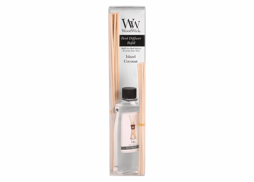 _DISCONTINUED - Island Coconut WoodWick 7.4 oz. Reed Diffuser REFILL