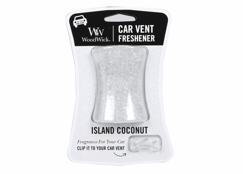 _DISCONTINUED - Island Coconut WoodWick Car Vent Freshener