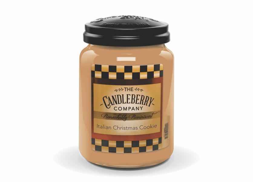 _DISCONTINUED - Italian Christmas Cookie 26 oz. Large Jar Candleberry Candle