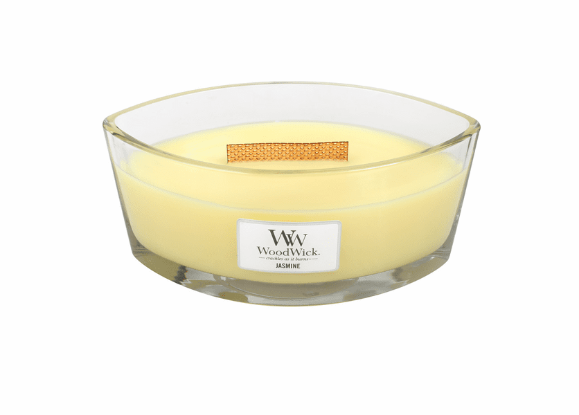 _DISCONTINUED - Jasmine WoodWick Candle 16 oz. HearthWick Flame