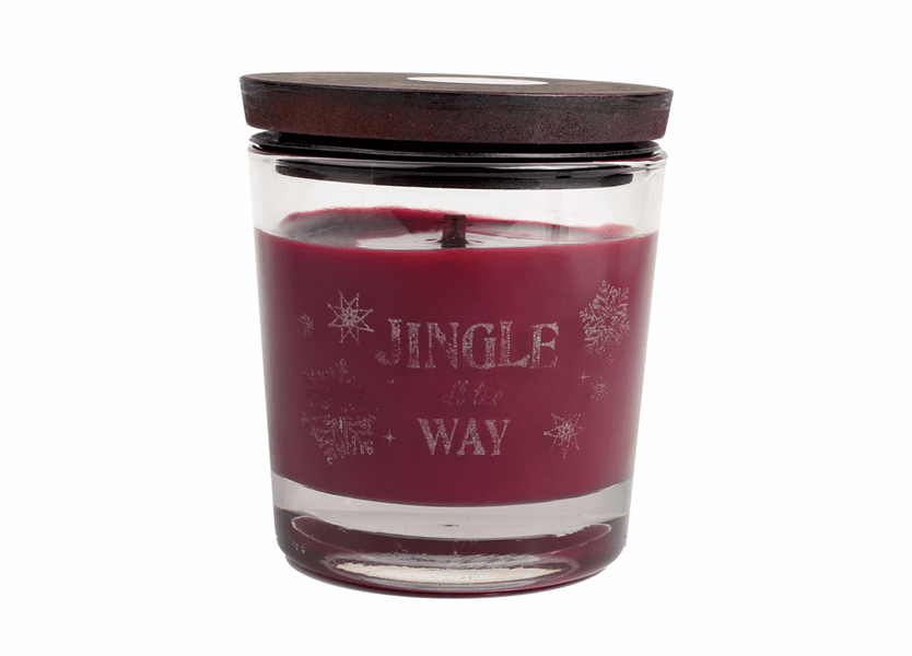_DISCONTINUED - *Jingle All The Way WoodWick Laser Etched Medium Candle