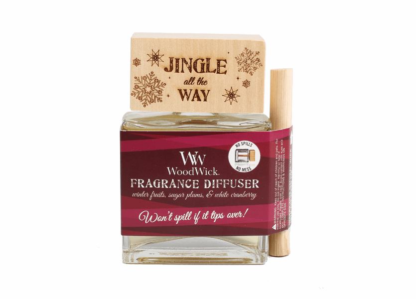 _DISCONTINUED - *Jingle All The Way WoodWick Laser Etched Spill-Proof Diffuser