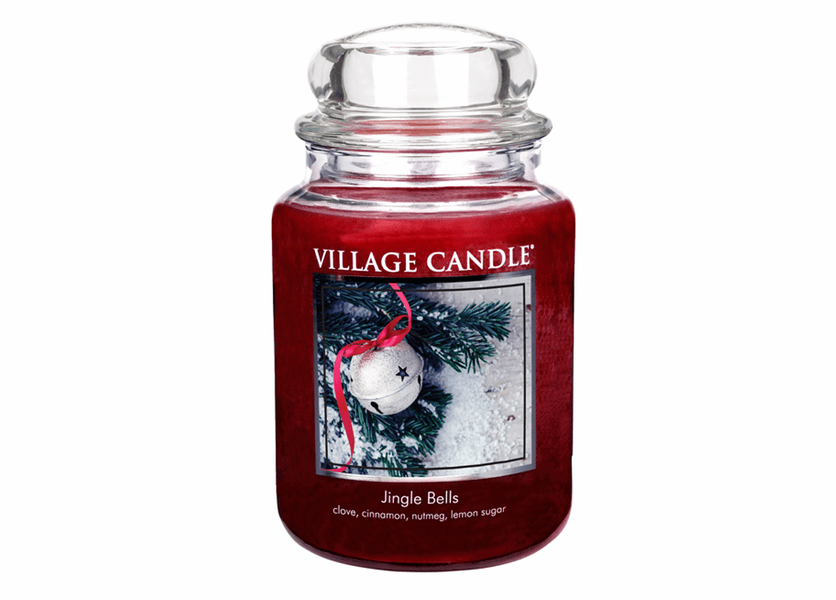 _DISCONTINUED - *Jingle Bells 26 oz. Premium Round by Village Candles