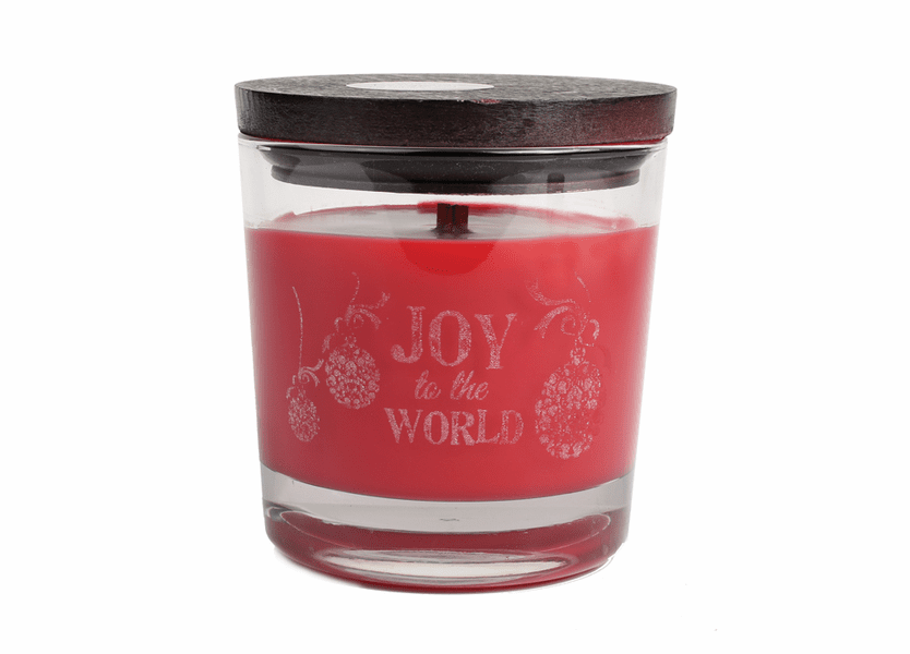 _DISCONTINUED - *Joy to the World WoodWick Laser Etched Medium Candle