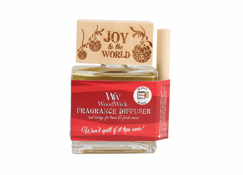 _DISCONTINUED - *Joy to the World WoodWick Laser Etched Spill-Proof Diffuser