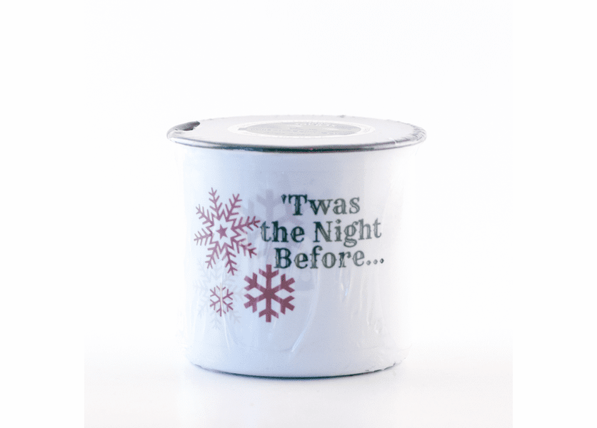 _DISCONTINUED - Joyeaux Noel Festive Holiday Enamelware Small Canister Swan Creek Candle