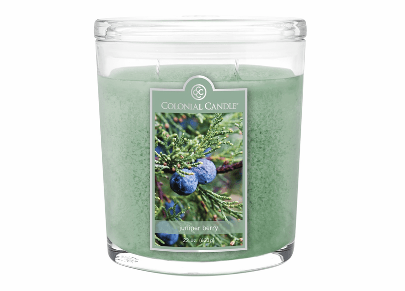 _DISCONTINUED - Juniper Berry 22 oz. Oval Jar Colonial Candle