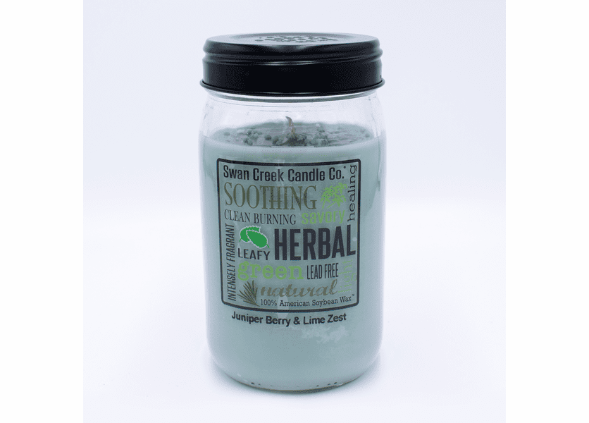 _DISCONTINUED - Juniper Berry & Lime Zest 24 oz. Swan Creek Kitchen Pantry Jar