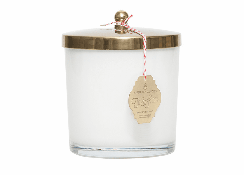 _DISCONTINUED - Juniper Twig 13 oz. Holiday Jar Candle by Aspen Bay Candles