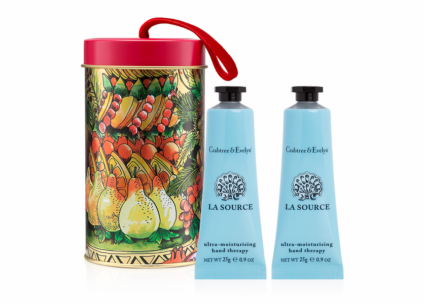 _DISCONTINUED - La Source Hand Therapy Ornament Tin - Holiday Collection by Crabtree & Evelyn