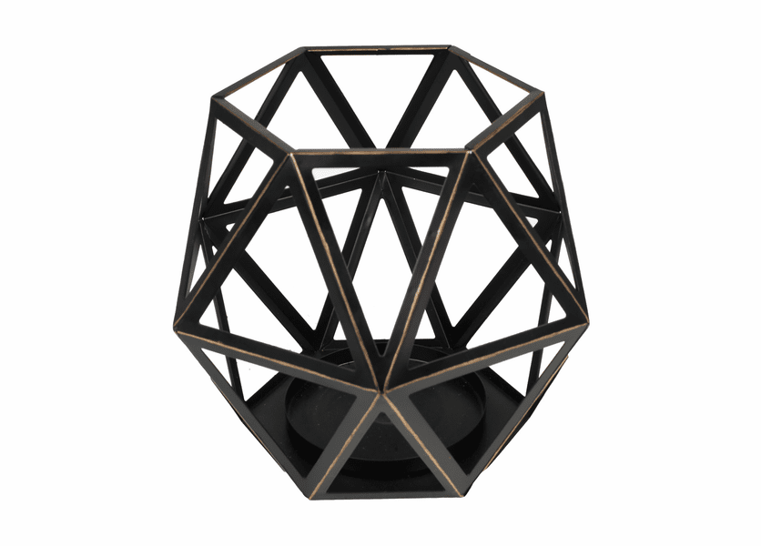_DISCONTINUED - Large Geometric Candle Holder by Virginia Gift Brands