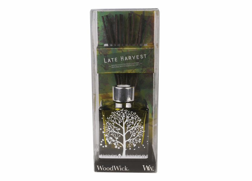_DISCONTINUED - *Late Harvest Dancing Glass WoodWick 5 oz. Reed Diffuser