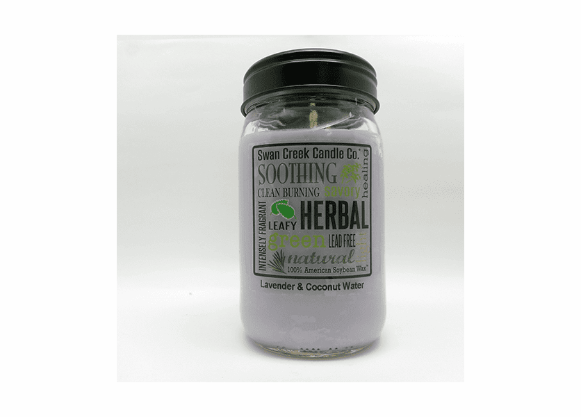 _DISCONTINUED - Lavender & Coconut Water 24 oz. Swan Creek Kitchen Pantry Jar Candle