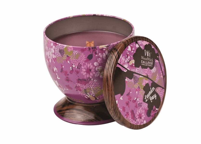 _DISCONTINUED - Lavender Ivory WoodWick Gallerie Collection Candle