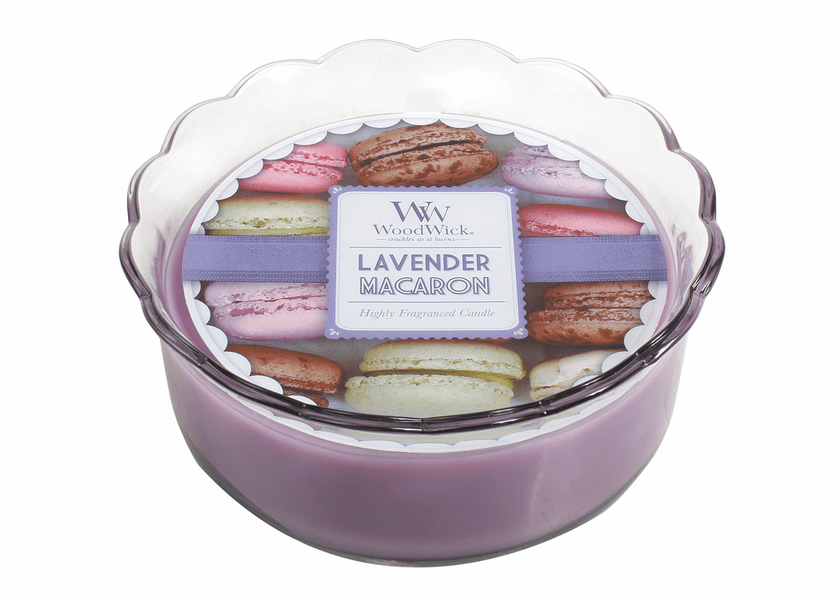 _DISCONTINUED - Lavender Macaron WoodWick Macaron Collection Candle