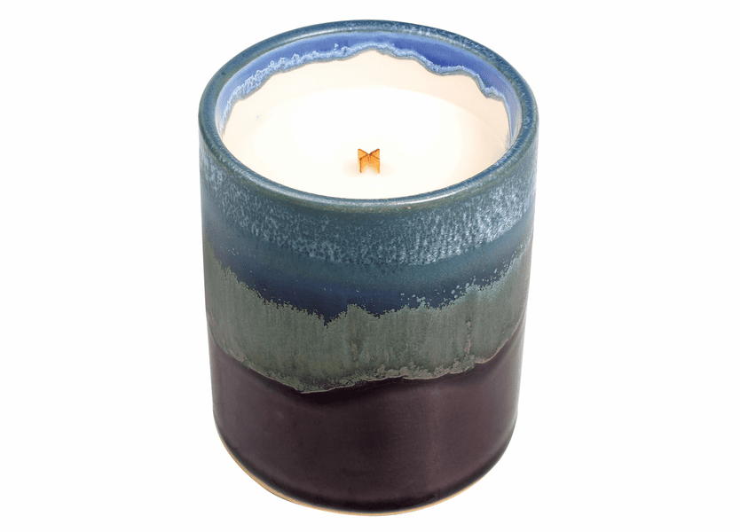 _DISCONTINUED - Lavender Spa Dipped Purple Tumbler Premium WoodWick Candle
