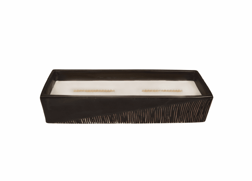 _DISCONTINUED - Lavender Spa Two-Tone Large Rectangle WoodWick Candle with HearthWick Flame