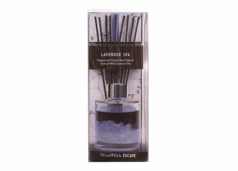 _DISCONTINUED - Lavender Spa WoodWick Escape Crystal Reed Diffuser