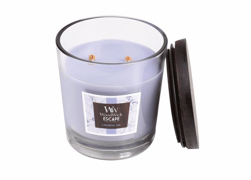 _DISCONTINUED - Lavender Spa WoodWick Escape Large 2-Wick Jar Candle