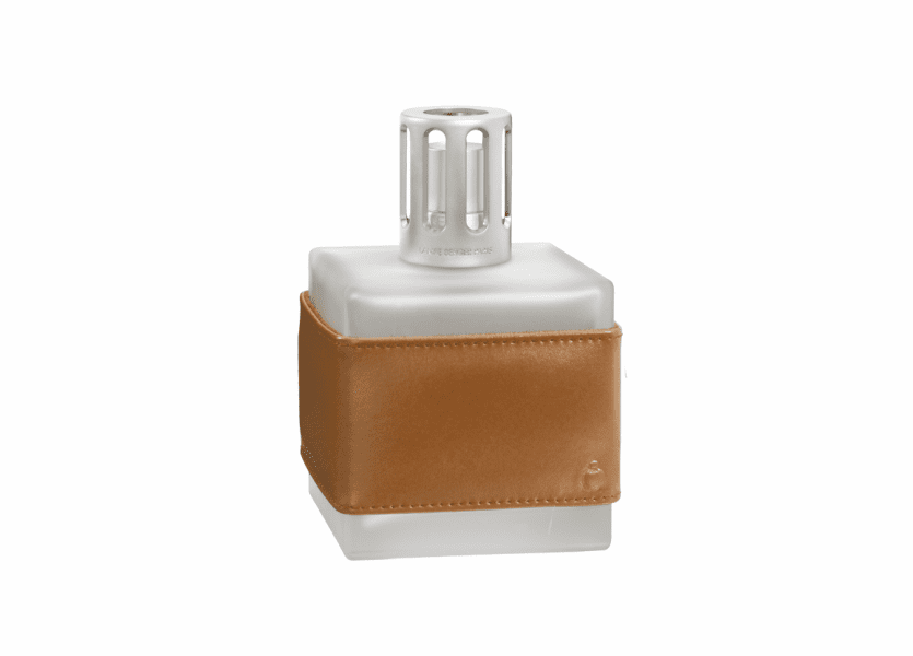 _DISCONTINUED - Leather Cube Havana Fragrance Lamp by Lampe Berger