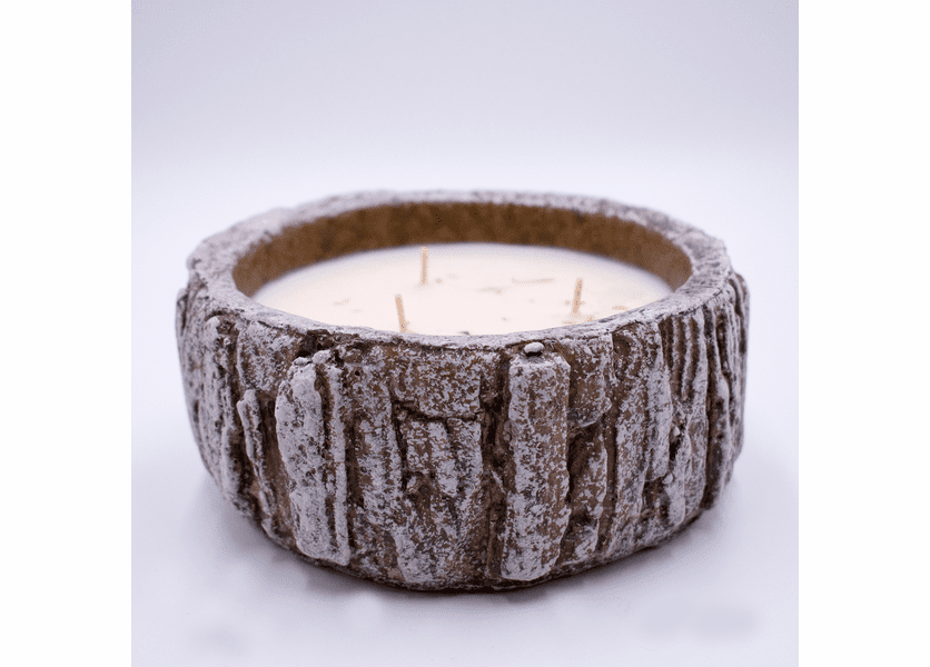 _DISCONTINUED - Leather White Woods Bowl Swan Creek Candle
