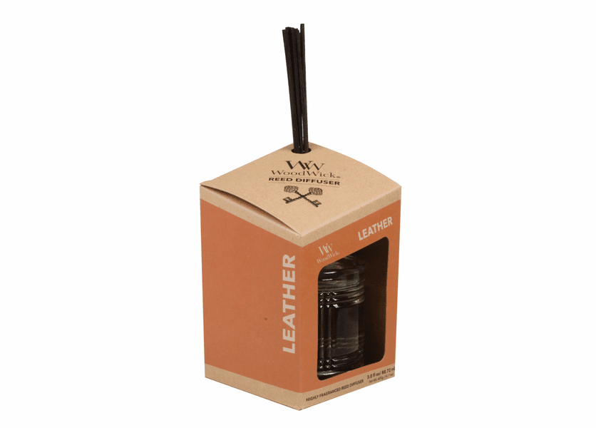 _DISCONTINUED - Leather WoodWick Reserve Collection Reed Diffuser