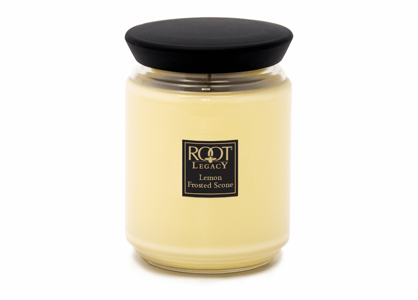 _DISCONTINUED - Lemon Frosted Scone 22 oz. Queen Bee Root Candle