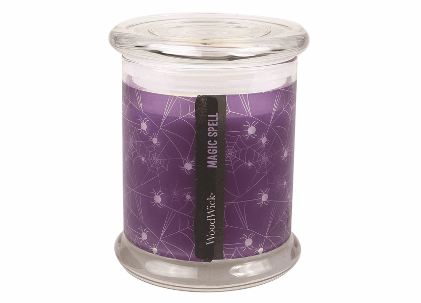 _DISCONTINUED - *Magic Spell Halloween Geometric Glass WoodWick Candle