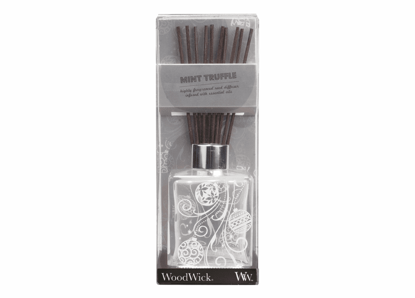 _DISCONTINUED - *Mint Truffle Dancing Glass WoodWick 5 oz. Reed Diffuser