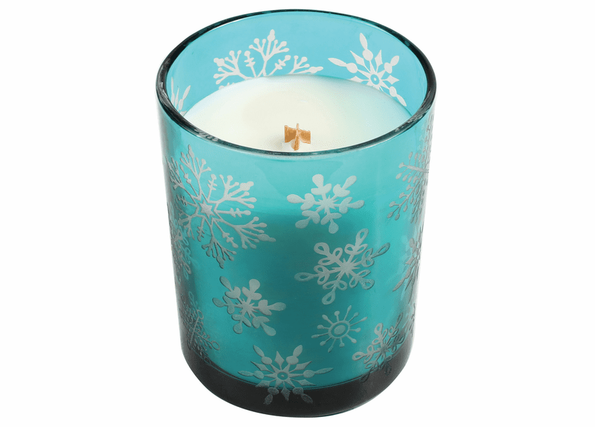 _DISCONTINUED - *Mint Truffle Etched Glass Tumbler WoodWick Candle