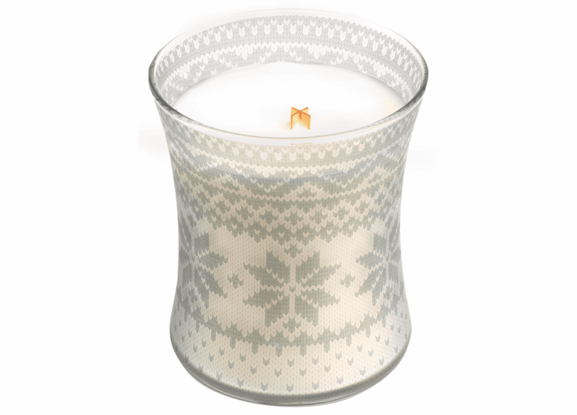 _DISCONTINUED - *Mint Truffle Holiday Comforts Sweater Hourglass WoodWick Candle