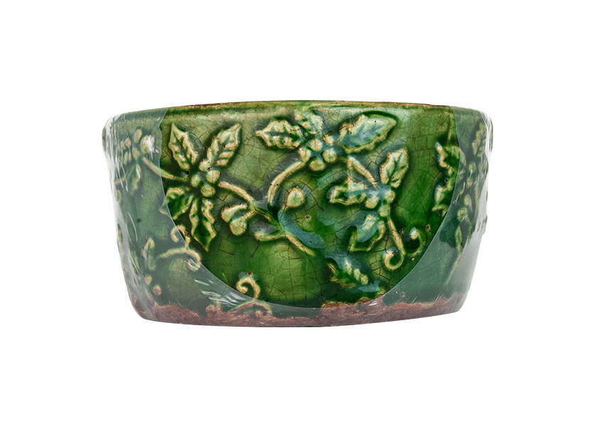 _DISCONTINUED - *Mulberry & Mandarin Holly Pattern Bowl (Color: Green)