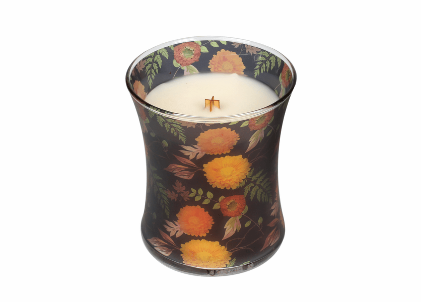 _DISCONTINUED - *Mums Fall Comforts Hourglass WoodWick Candle