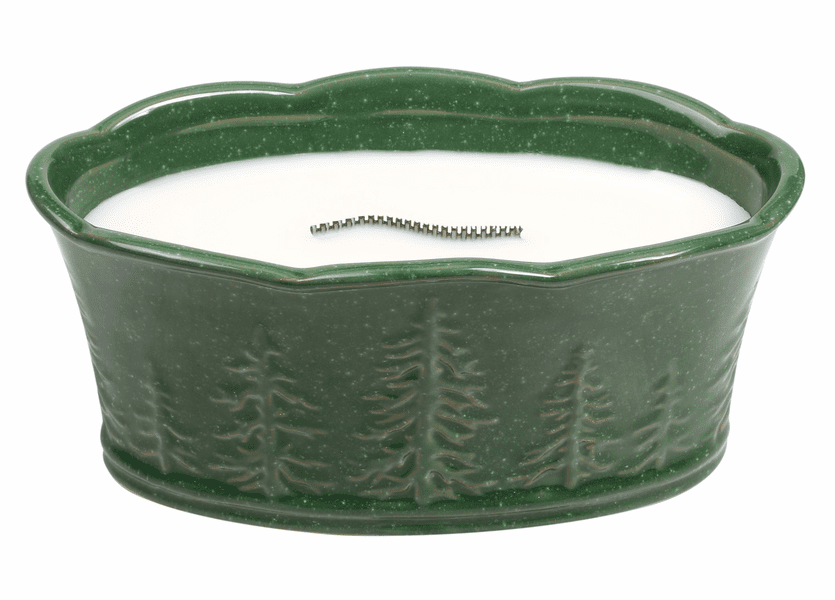 _DISCONTINUED - *Northern Fir Scenic Ceramics Large Ellipse Premium RibbonWick Candle